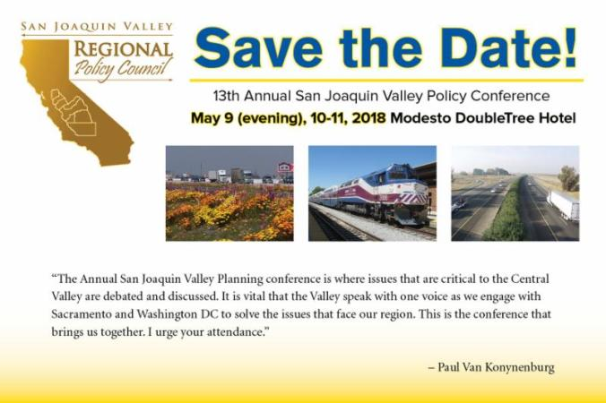 SJV Policy Conference - save the date