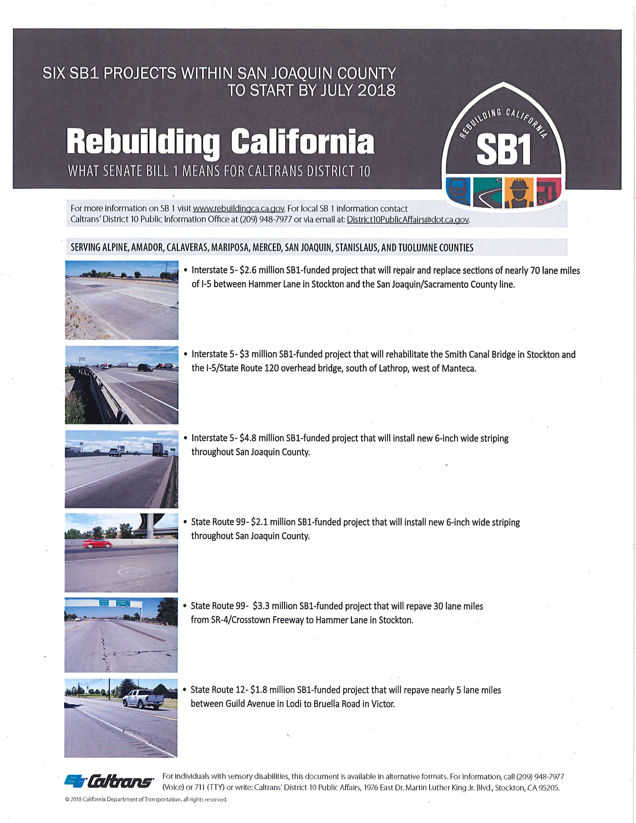 SB 1 funds allow Caltrans to accelerate repairs on I-5 in San